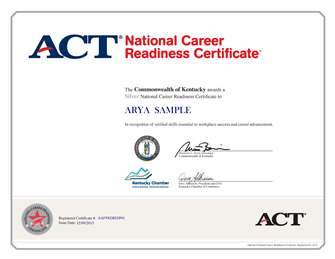 NCRC certificate
